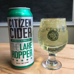 Citizen Cider The Lake Hopper in The Hop Yard glass