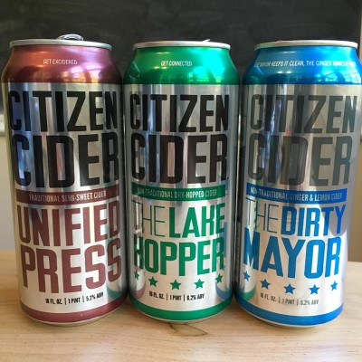 Citizen Cider's Unified Press, The Lake Hopper, and The Dirty Mayor