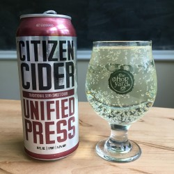 Citizen Cider Unified Press in The Hop Yard glass