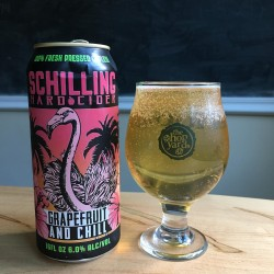Schilling Hard Cider Grapefruit And Chill in The Hop Yard glass