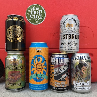 Captain Lawrence 6th Borough, Founders All Day, Bells Oberon, Schilling Passport: Pineapple Passionfruit, Westbrook Gose, Burial Bonedagger