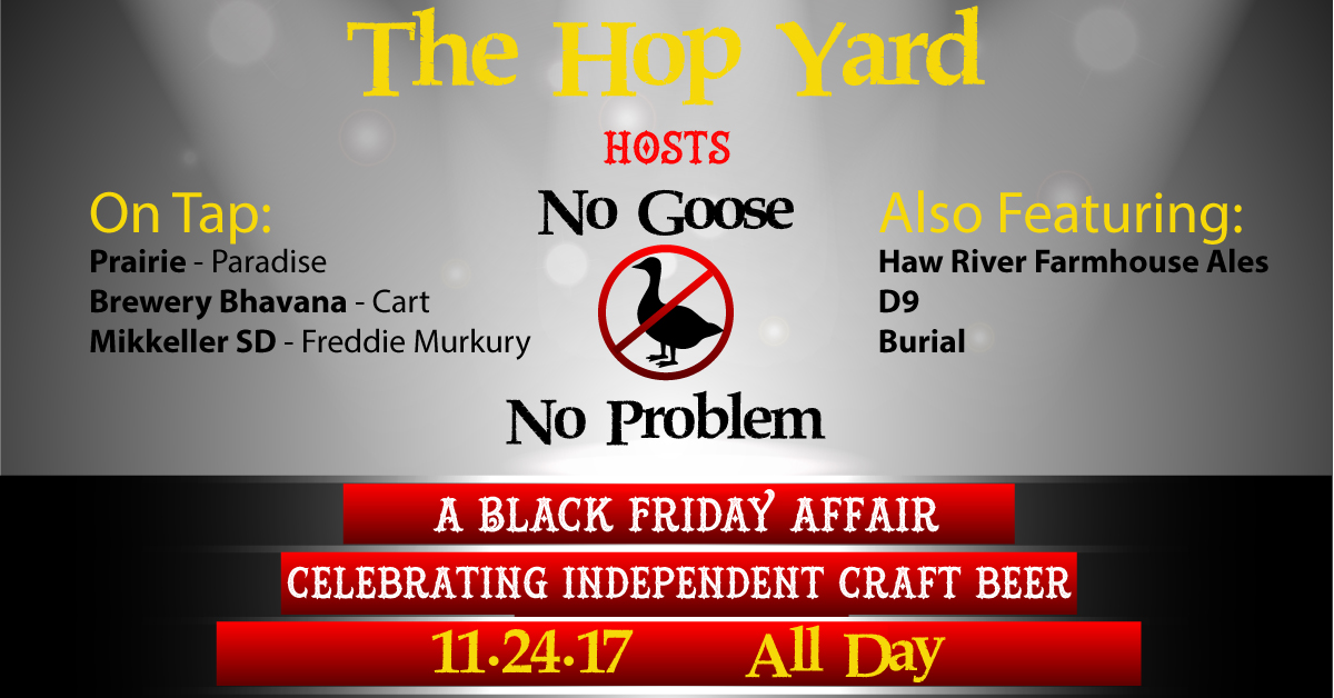 The Hop Yard showcases independent craft beer this Black Friday.