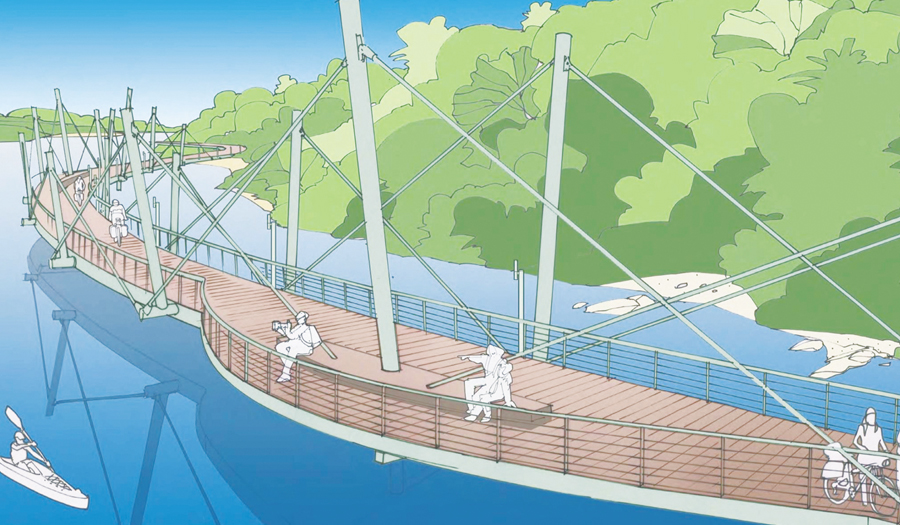 Conceptual plans for Hickory's Riverwalk