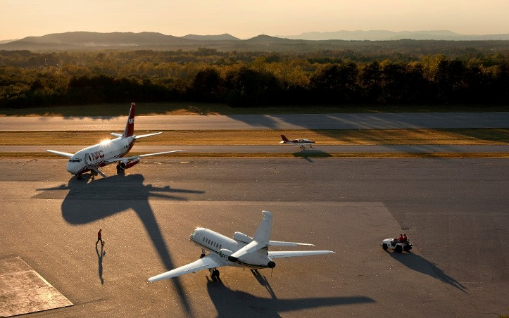 The Hickory Regional Airport, a general aviation airport, is the aviation leader in Western North Carolina. - Photo by Eckard Photographic