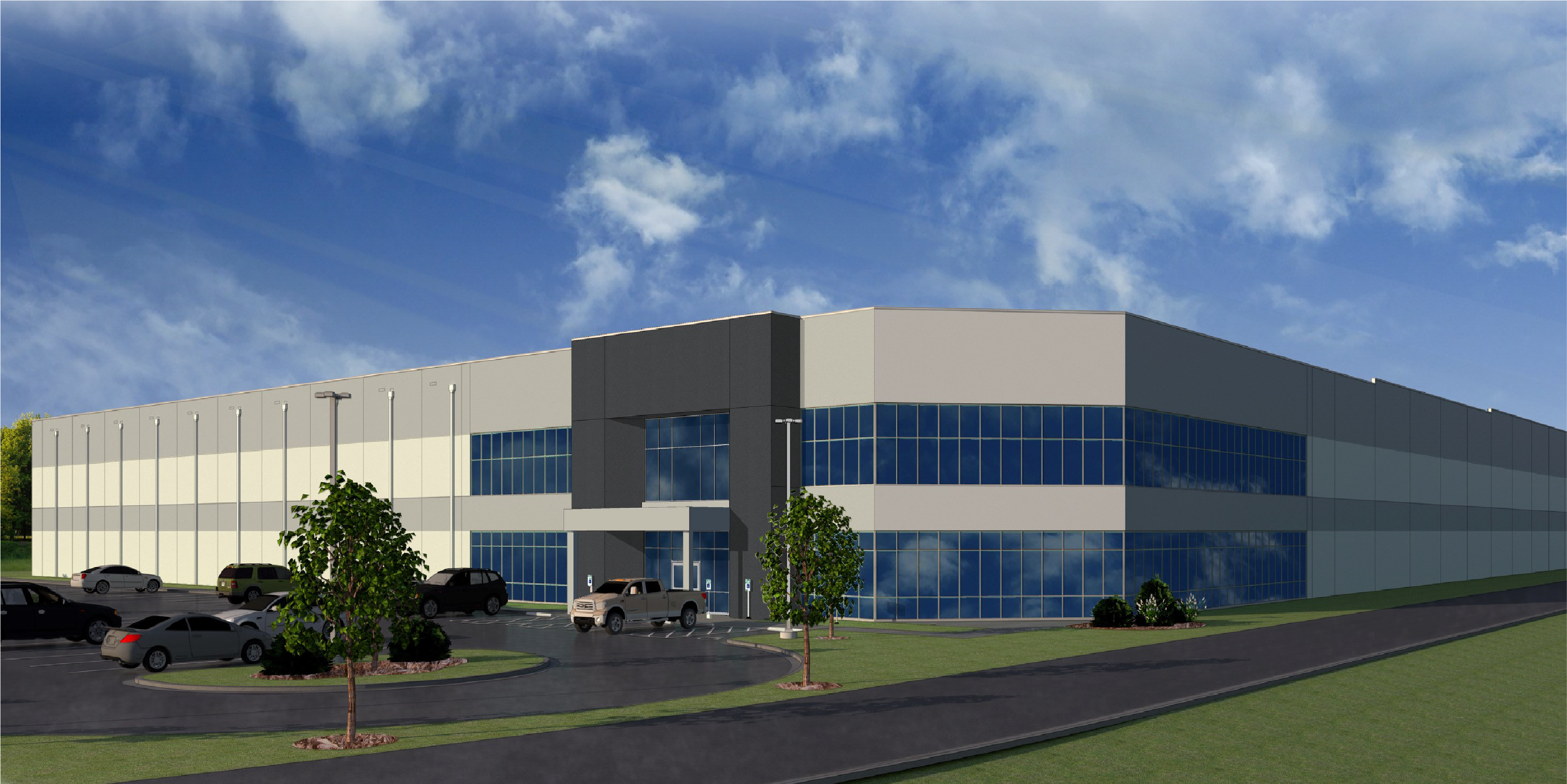 The Stonemont Spec Building is expected to be completed to its shell state by April 30, 2021.