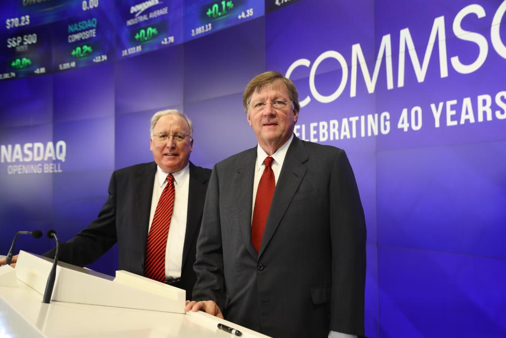 CommScope's Frank Drendel and Eddie Edwards opening the NASDAQ market August 10, 2016