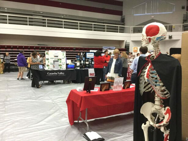 A Career and Technical Education fair was held at CVCC to educate students on opportunities. (Image - Laney Ruckstuhl)