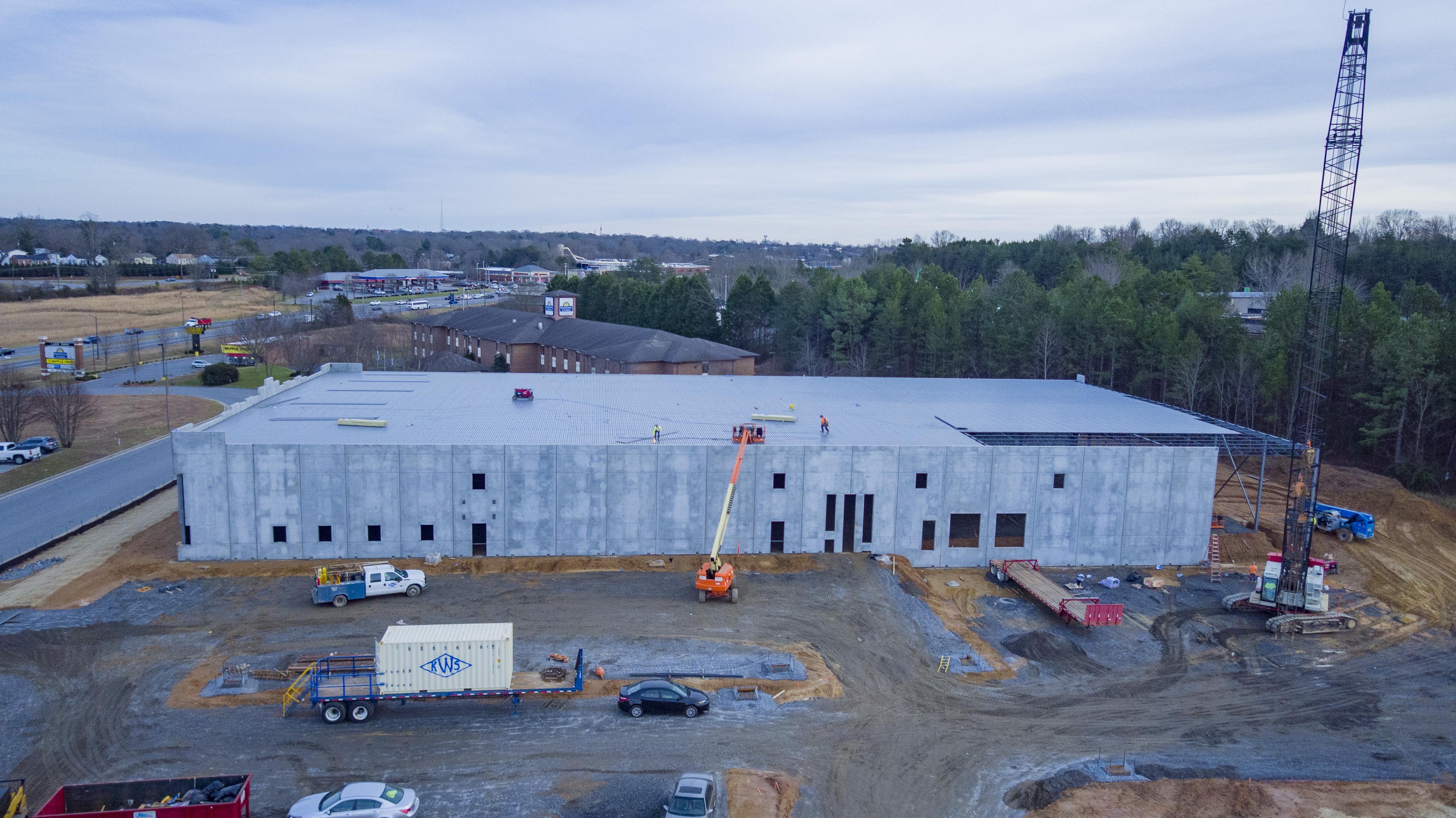 Construction Photo of Lake Park Spec Building - January 7, 2021