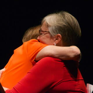Mary Jo and Penny Hugging