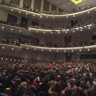 Packed audience