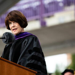 Penny speaking at UST Commencement 2018