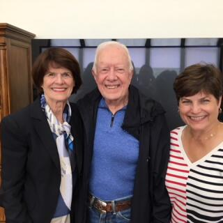 Penny, Gayle and President Carter