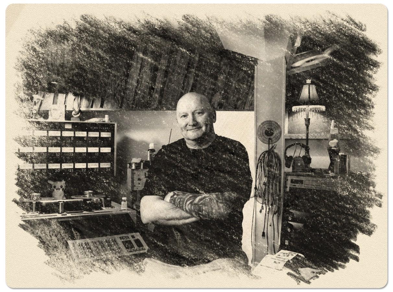 drawing of dick hodgin portrait