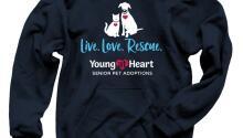 T-Shirts and Sweatshirts for Senior Pets!