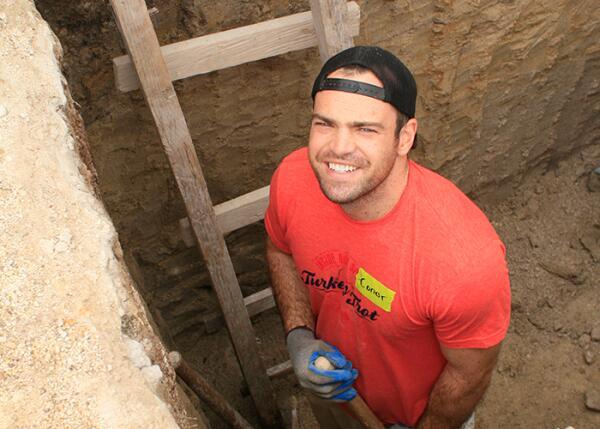 The finished septic hole