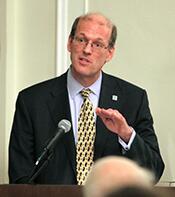 Jonathan Reckford, Habitat for Humanity International CEO, speaks at NC State