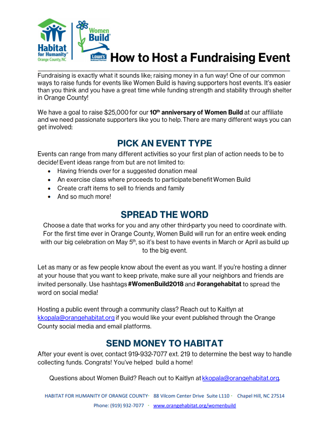 How to Host an Event Open