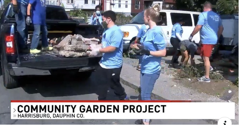Volunteers spruce up Allison Hill, creating community garden and resource for the area (CBS 21)
